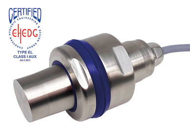 EHEDG certified stainless steel ultrasonic sensor up to 1500 mm range incl. mounting bracket